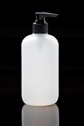 HD Boston Round Plastic bottle sold by Kaufman Container Company