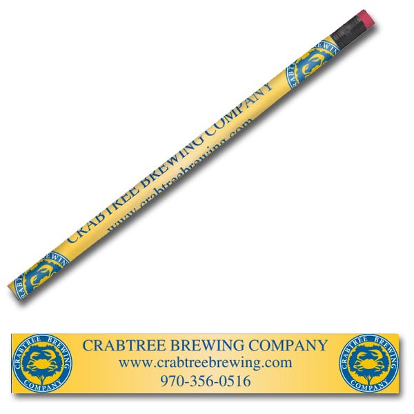 Full Color Wood Pencil Promotional product sold by MicrobrewMarketing.com