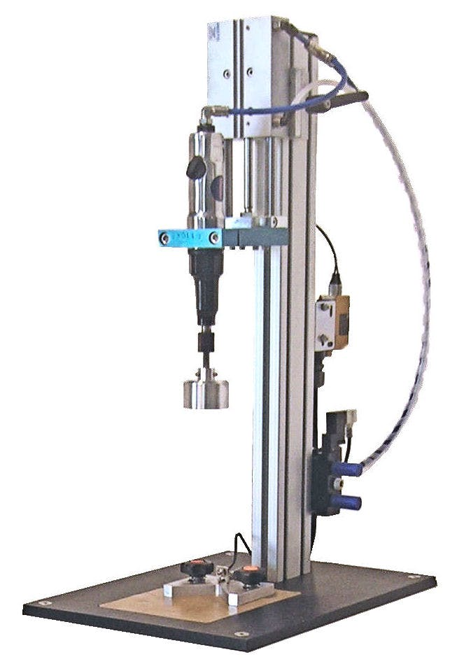 Semi-Automatic Tabletop Capper - Capping Machines - sold by Liquid Packaging Solutions