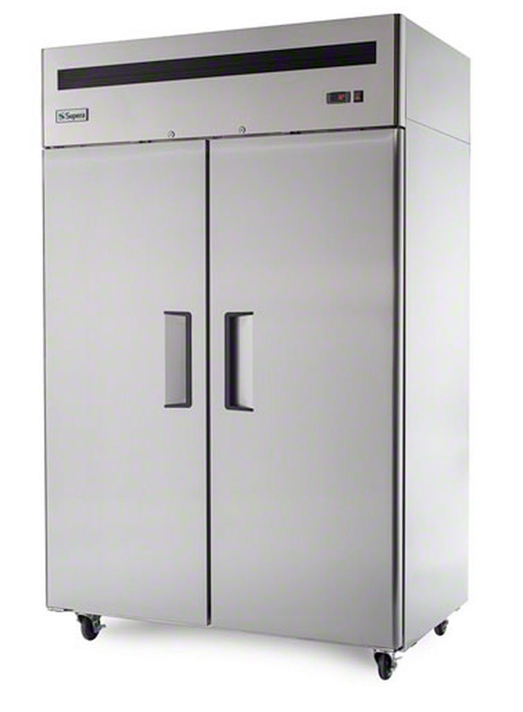"Supera (R2R-1) - 52"" Solid Door Reach-In Refrigerator Commercial refrigerator sold by Food Service Warehouse"
