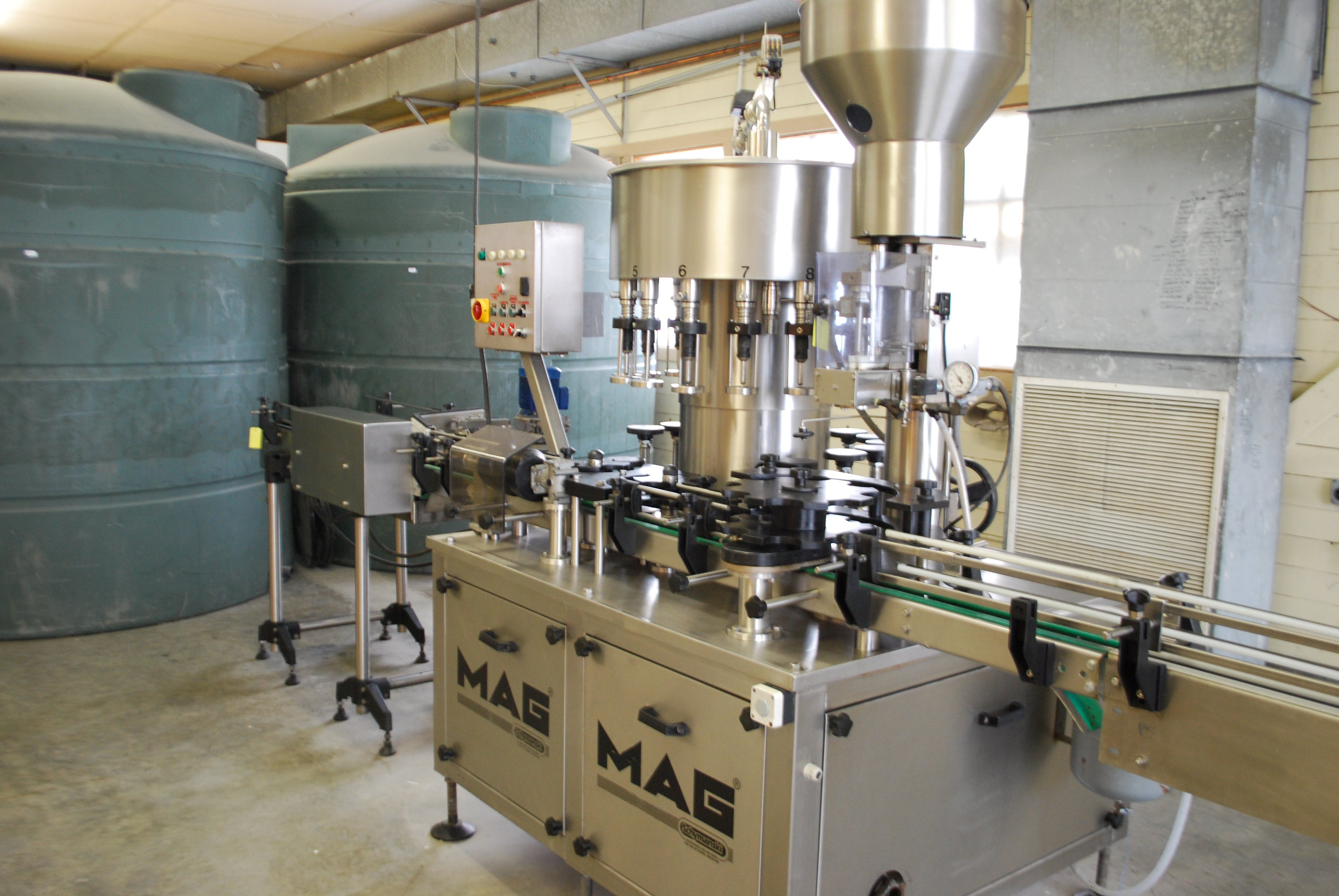 Fimer (MAG) 16/1 filler corker Bottle filler sold by Ager Tank & Equipment Co.