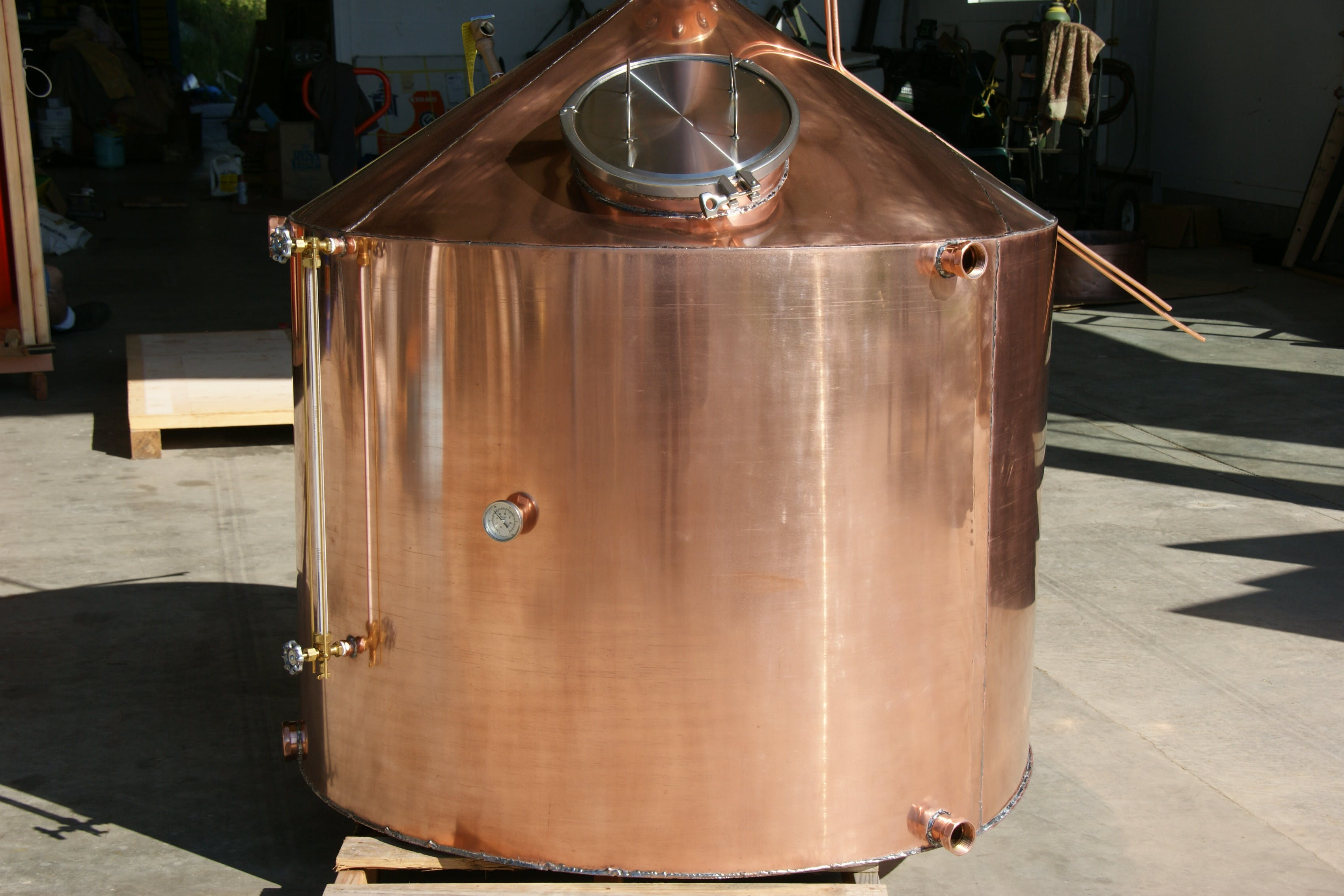 300 gallon - All Copper alcohol distillers - sold by The Revenoor Company INC