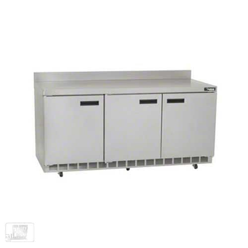 "Delfield - ST4472N 72"" Worktop Refrigerator w/Backsplash Commercial refrigerator sold by Food Service Warehouse"