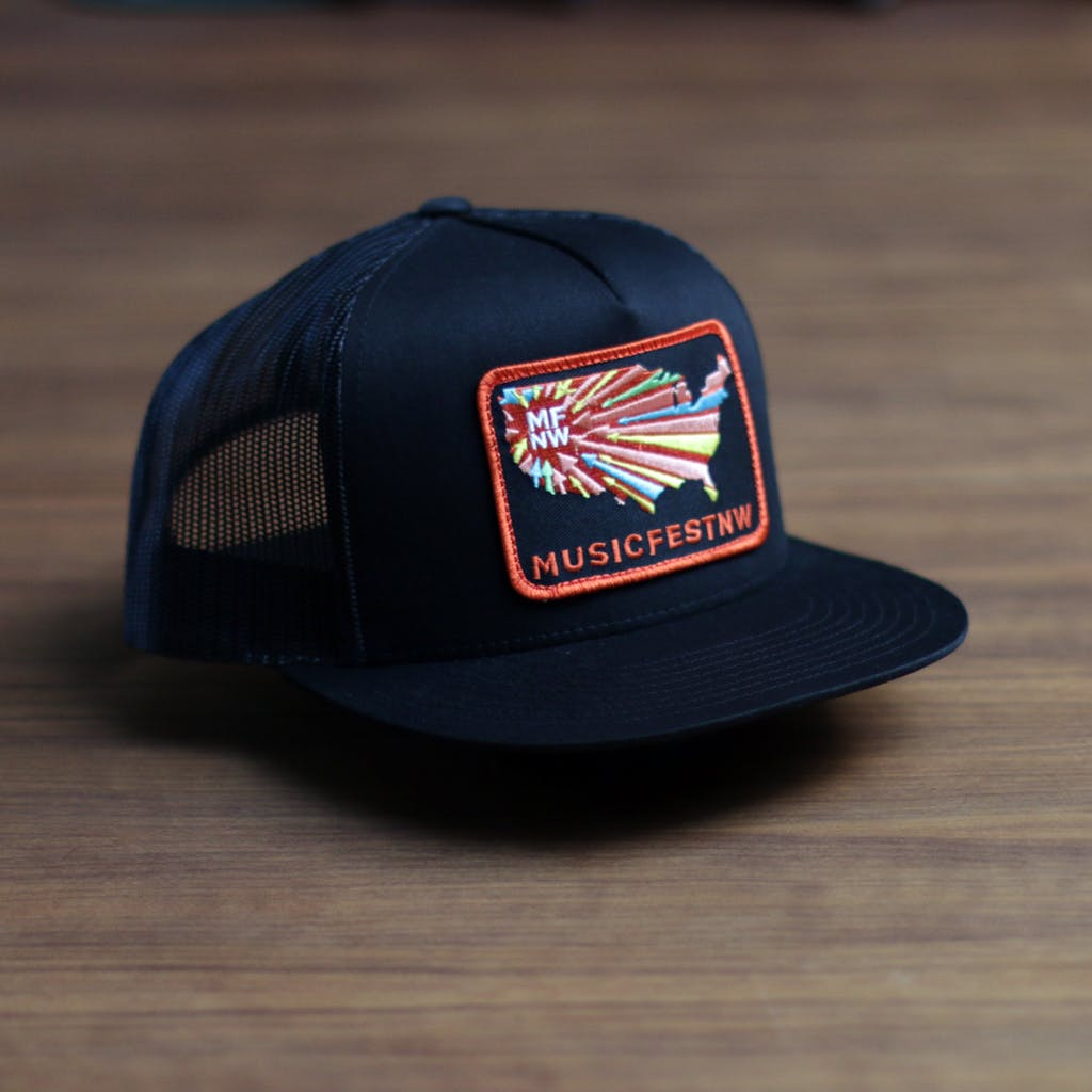 Twill front trucker 5 panel (patch) Promotional cap sold by Brewery Outfitters