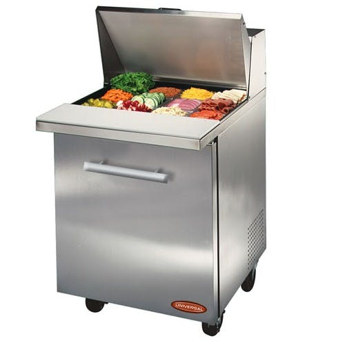 "Universal BM27SC - 27"" Sandwich Prep Table Food prep table sold by Elite Restaurant Equipment"