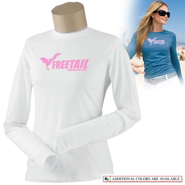 Ladies Long Sleeve Perfect Weight Tee Promotional shirt sold by MicrobrewMarketing.com