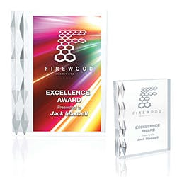 Argyle Luxe Acrylic Award by Jaffa® Award sold by Distrimatics, USA