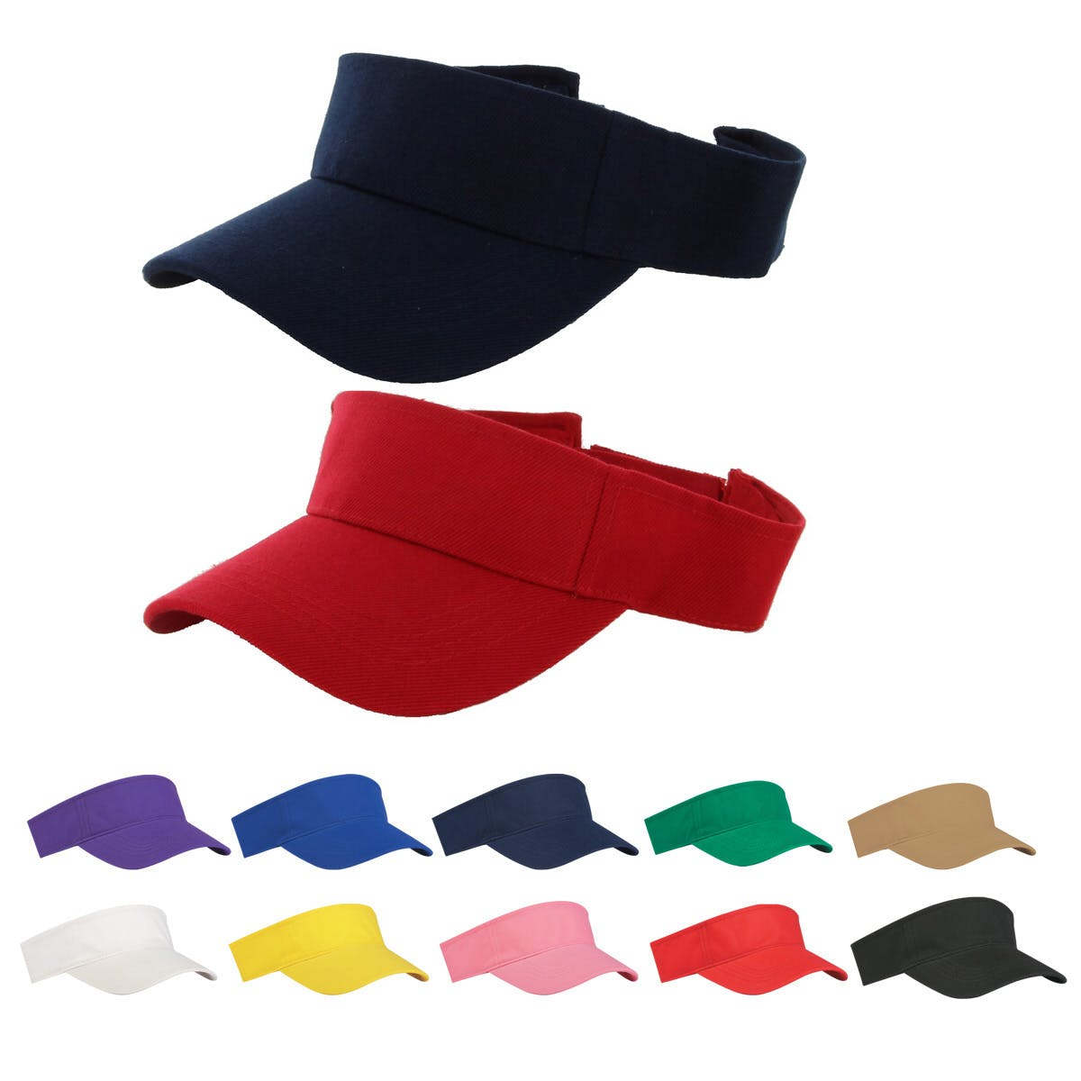 Budget Saver Visor (Item # XDJMT-KAKBC) Promotional apparel sold by InkEasy