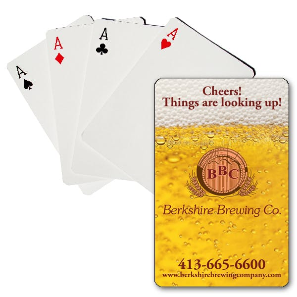 Full Color Premium Plastic-Coated Playing Cards Promotional product sold by MicrobrewMarketing.com