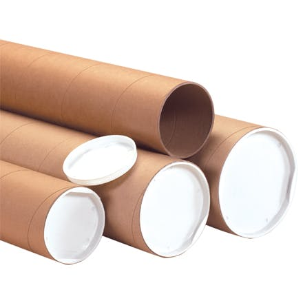 Heavy-Duty Kraft Mailing Tubes Kraft packaging sold by Ameripak, Inc.