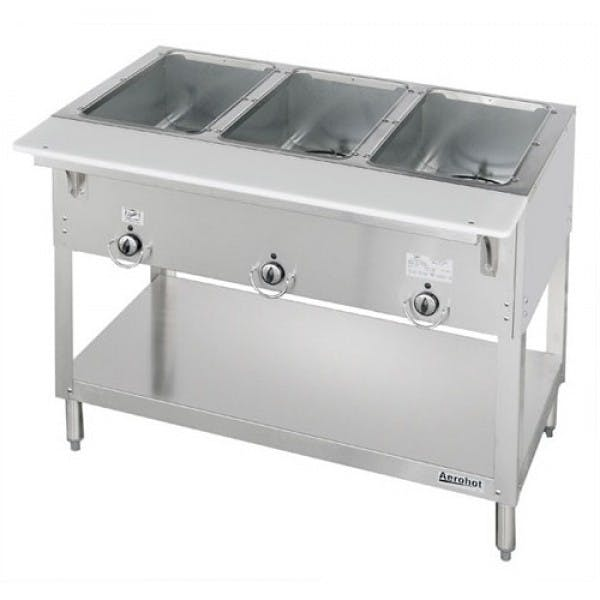 Aerohot™ 120v Electric 3 Well Steam Table