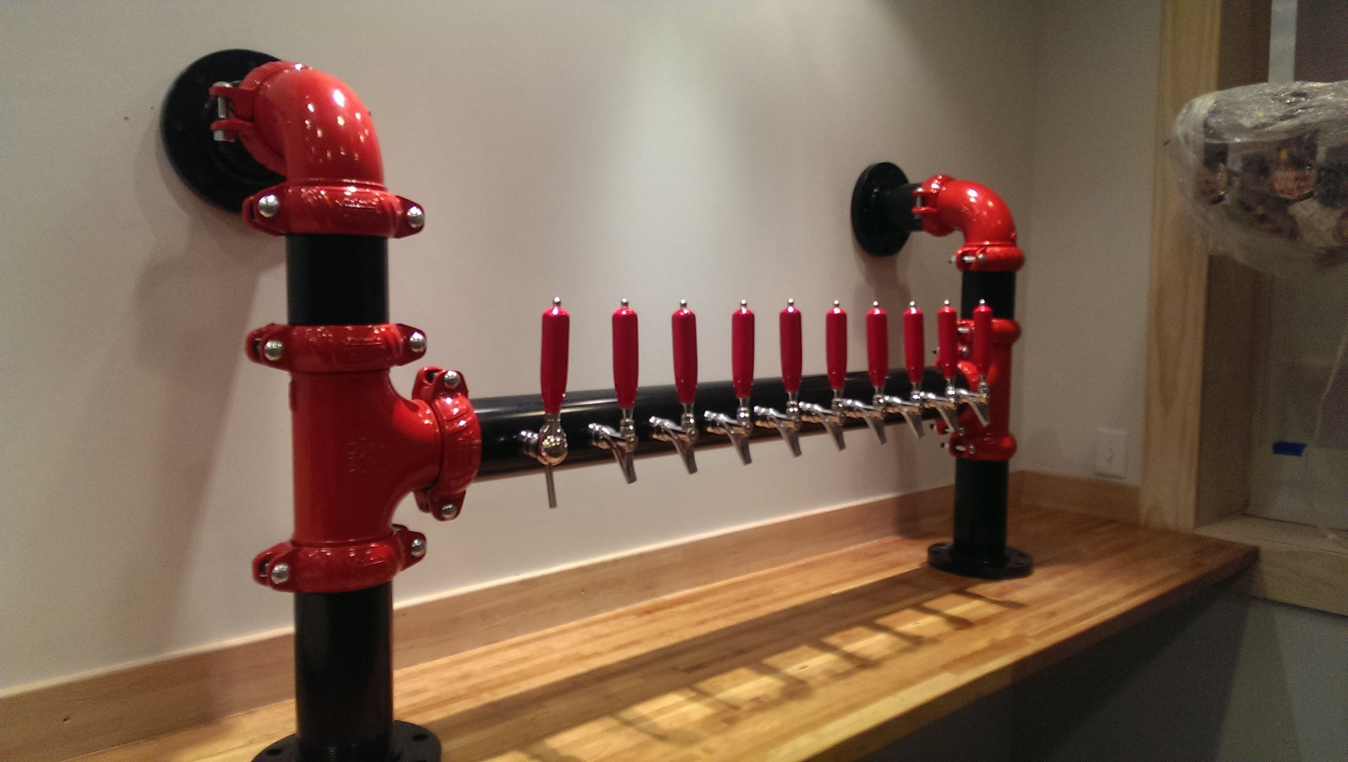 Custom Firehouse Tower Draft beer system sold by Divinity Beer System