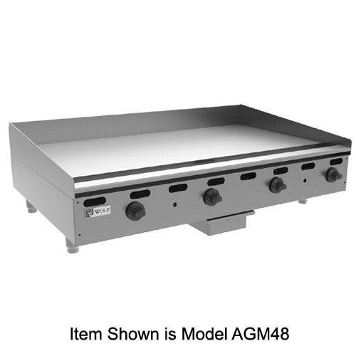 Wolf AGM24 Heavy Duty Gas Griddle, 24 Inch Griddle sold by Mission Restaurant Supply