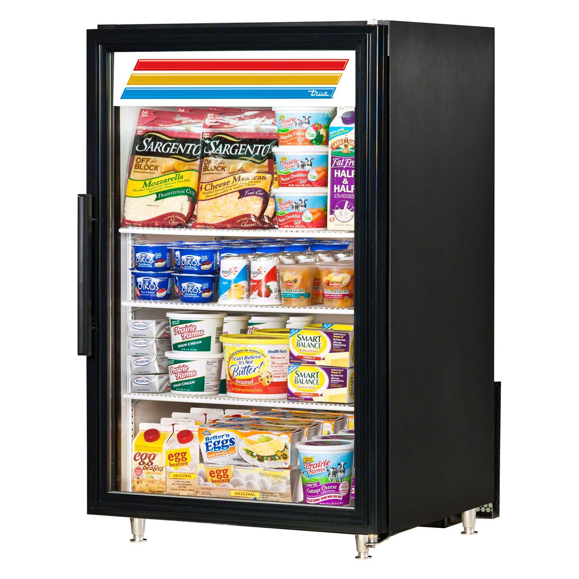 "True - GDM-7-LD 24"" Countertop Glass Door Merchandiser Refrigerator LED Commercial refrigerator sold by Food Service Warehouse"