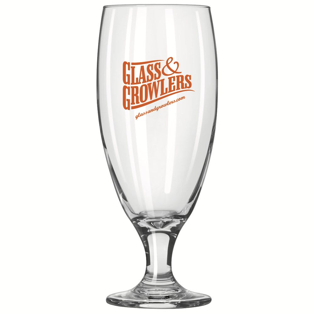 3804 Embassy Pilsner 16 oz Beer glass sold by Glass and Growlers