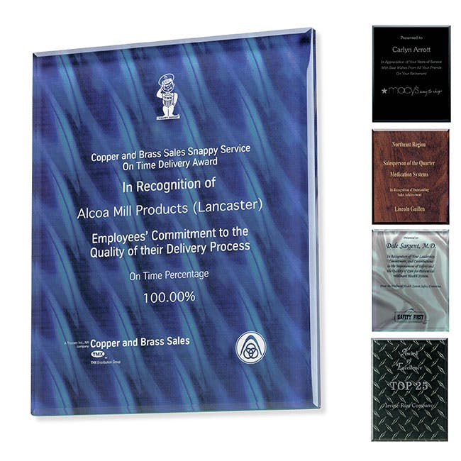"Trillinnium Award Plaque - 8"" x 10"" by Jaffa® Award sold by Distrimatics, USA"