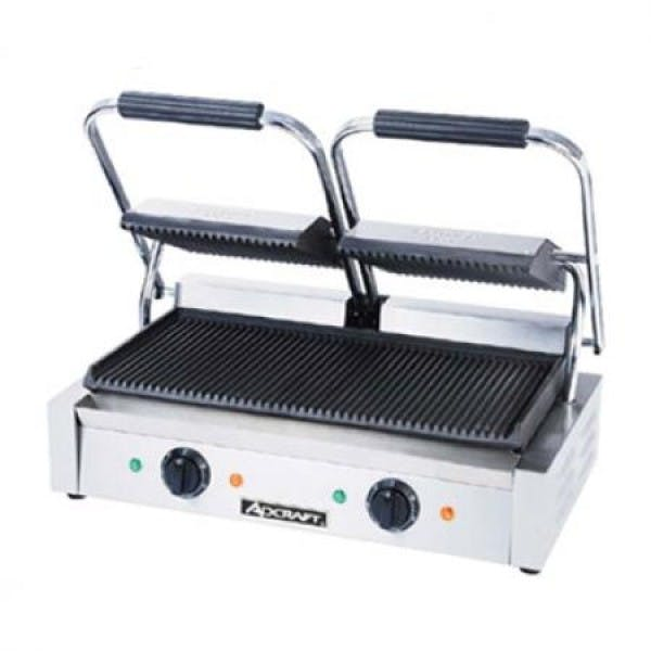Grooved Double Sandwich Grill Press