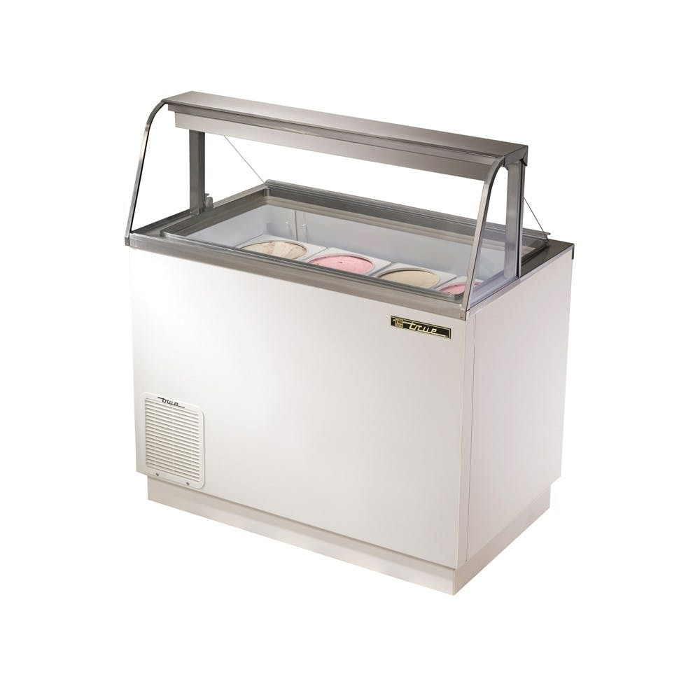 True Manufacturing TDC-47-CG Ice Cream Dipping Cabinet with Curved Glass, 47 Inches Ice cream dipping cabinet sold by Mission Restaurant Supply