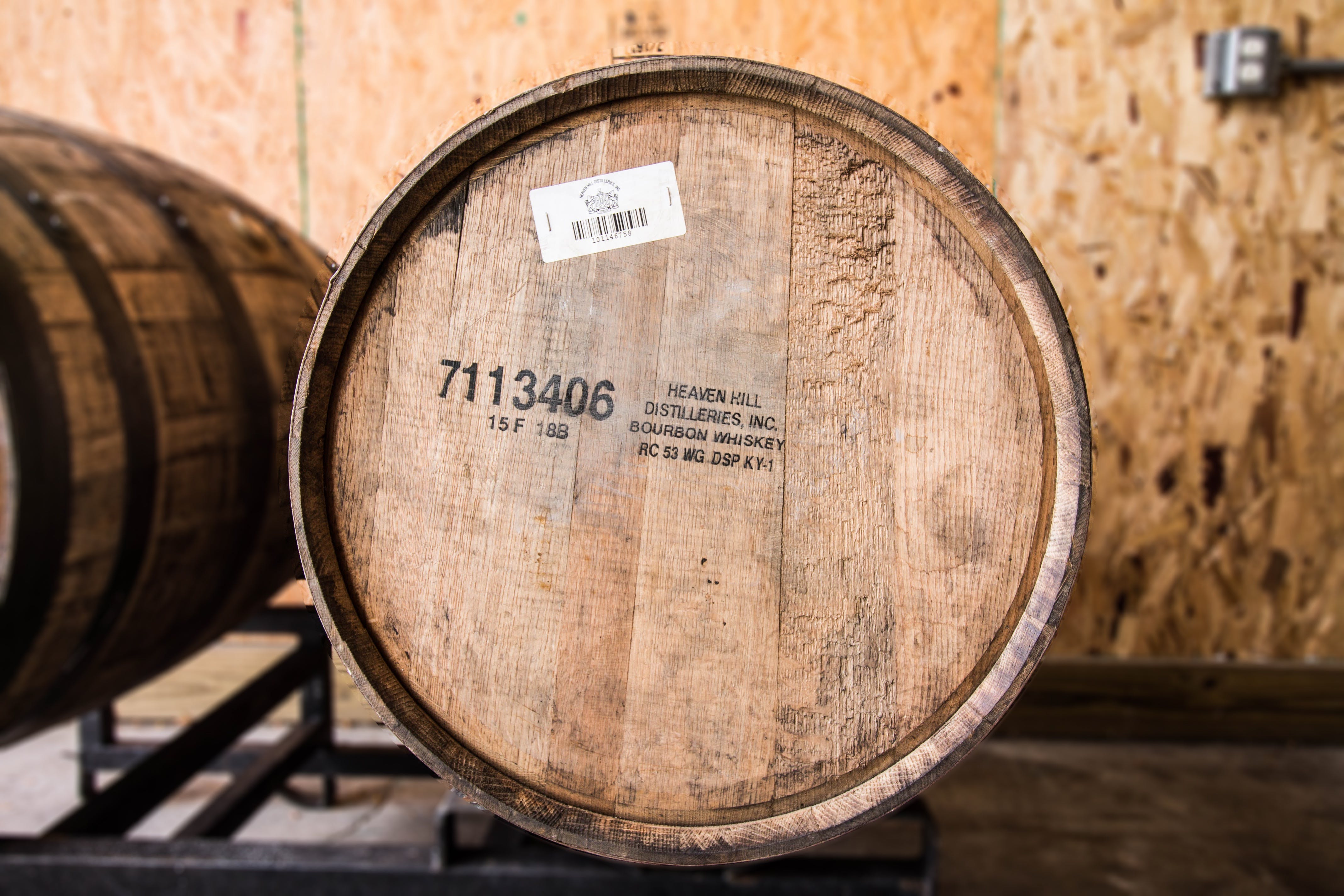 Fresh-Dumped, Once-Used Heaven Hill Barrel - sold by Midwest Barrel Company
