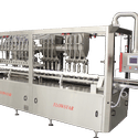 Capmatic FlowStar Continuous Motion In-Line Liquid and Viscous Product Filler - Bottle filler sold by Capmatic