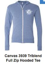 Canvas TriBlend Full Zip Hooded Tee