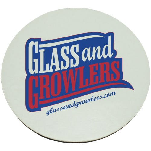 Full Color Circle Coasters (Heavy Weight 80pt) | Glass and Growlers Drink coaster sold by Glass and Growlers
