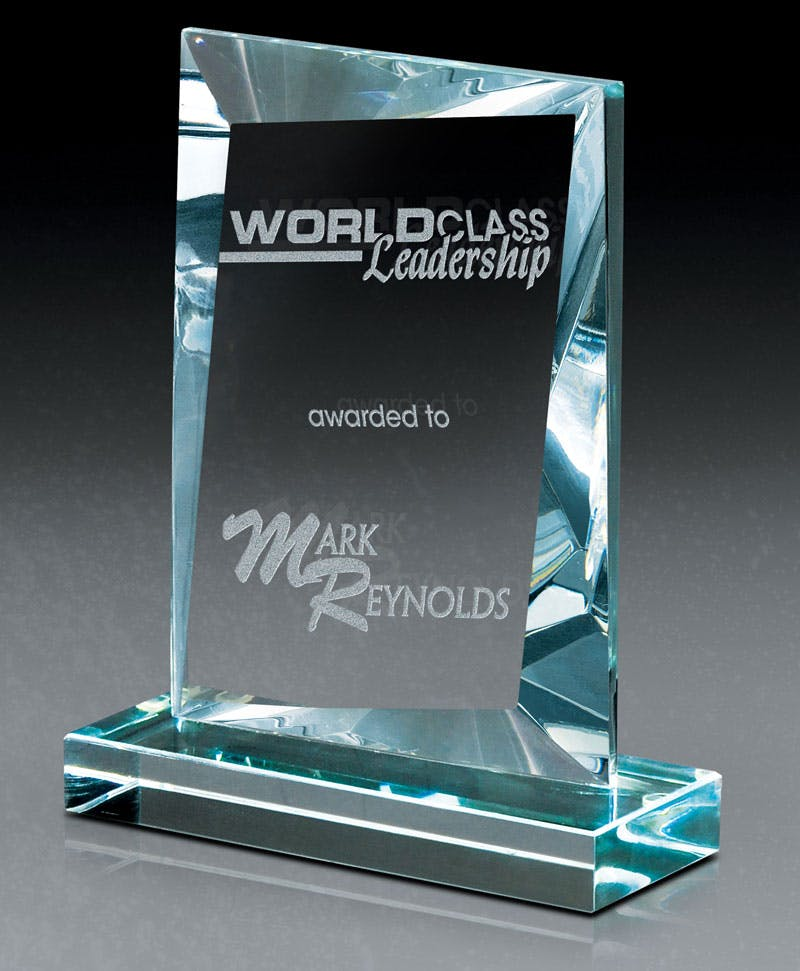 Starphire Slant European glass award Award sold by Distrimatics, USA