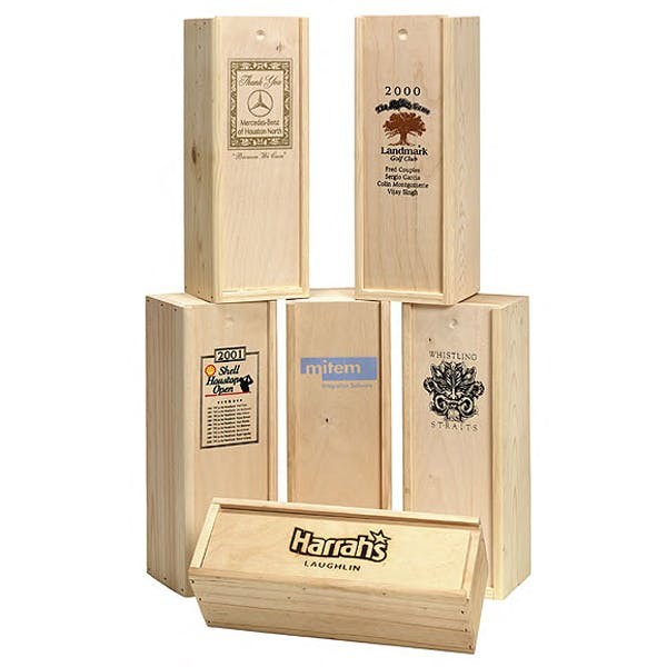 Wooden Wine Box (Item # UFGOR-IODMO) Wine box sold by InkEasy