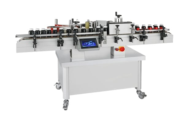 New CVC model EC30 wraparound pressure sensitive labeler - sold by Union Standard Equipment Co