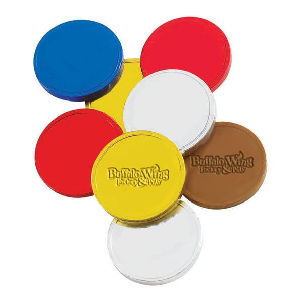 Custom Coin - Debossed Chocolate Promotional product sold by MicrobrewMarketing.com