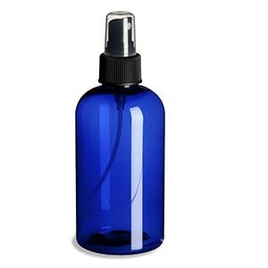8 oz Blue Plastic PET Boston Round Bottle w/ Fine Mist Spray Plastic bottle sold by PremiumVials