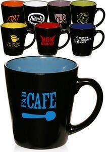 12 Oz. Two Tone Latte Mugs (Item # XCKHM-JDSAL) Ceramic mug sold by InkEasy