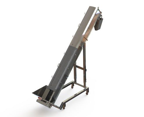 Adjustable Auger Screw conveyor sold by Fusion Tech Integrated Inc.