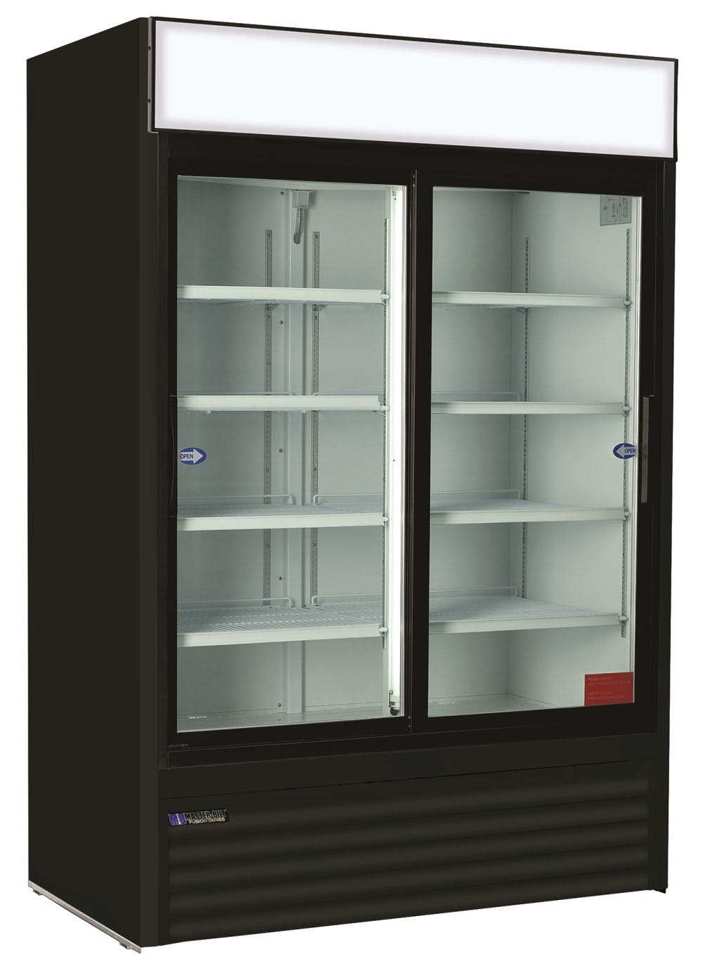 Master-Bilt MBGR48S Glass Door Merchandiser Refrigerator (48 cu ft capacity) Merchandiser sold by pizzaovens.com