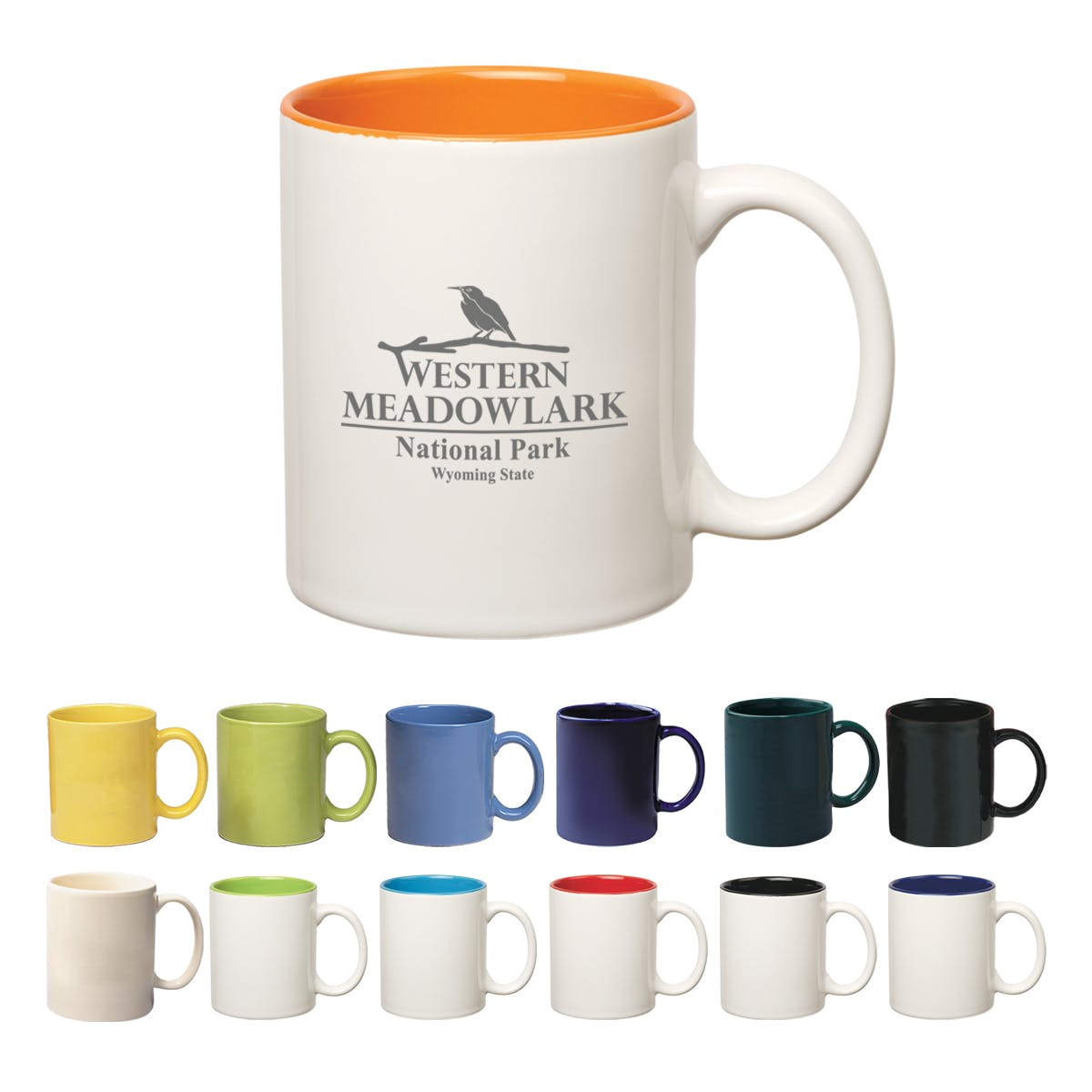 11 Oz. Colored Mug (Item # SFJIT-BEKVC) Ceramic mug sold by InkEasy