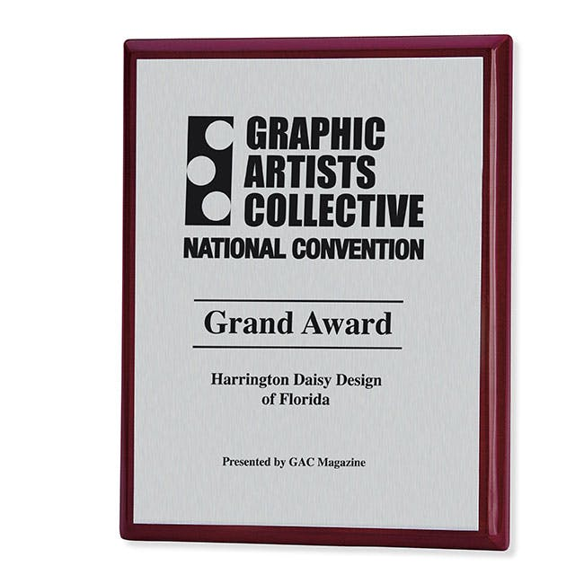 8x10 Connection Award Plaque Rosewood by Jaffa® Award sold by Distrimatics, USA