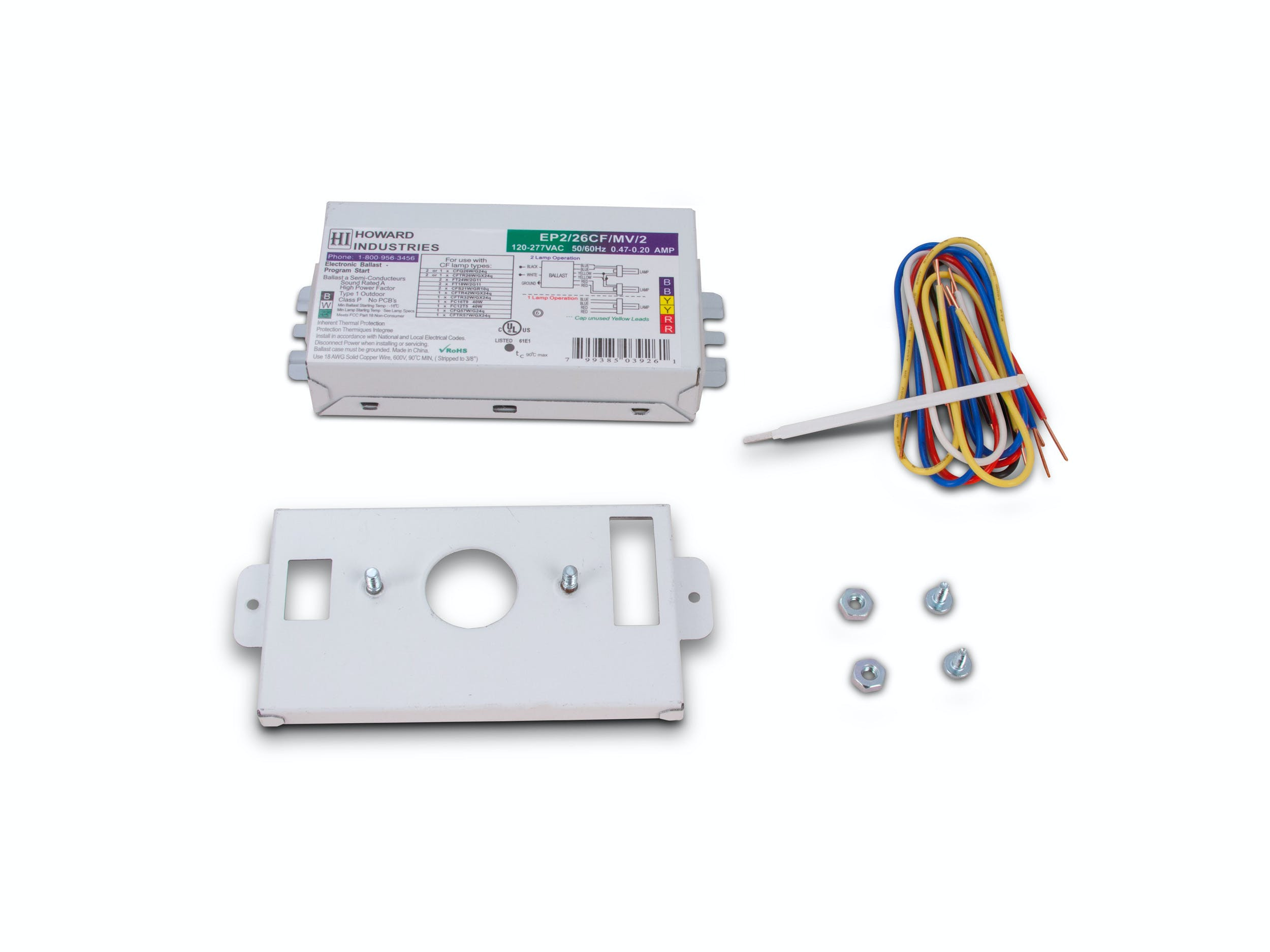 2 Lamp Electronic Compact Fluorescent Ballast - EP2/26CF/MV/K2 - sold by RelightDepot.com