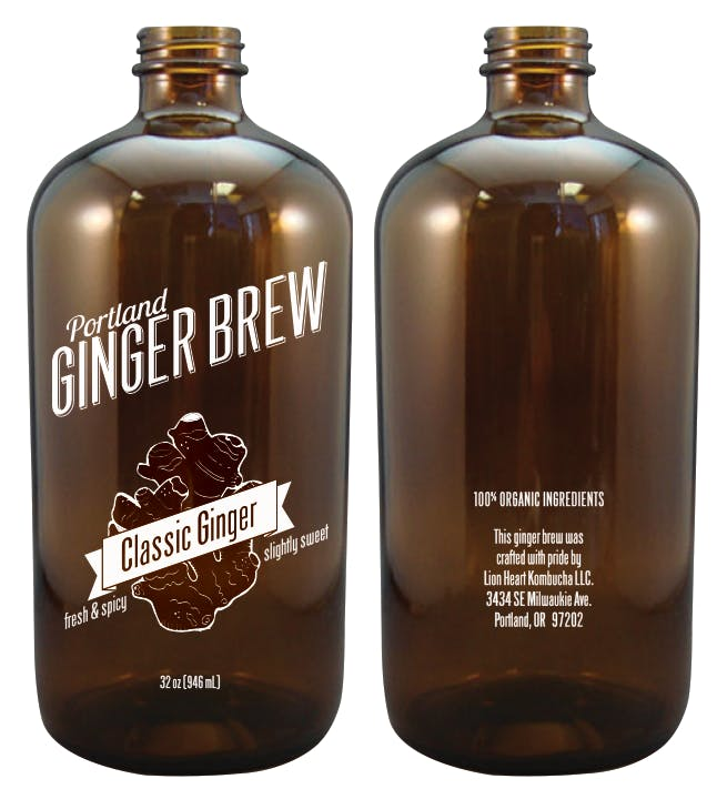 32oz Boston Round Growler sold by Cascade Graphics