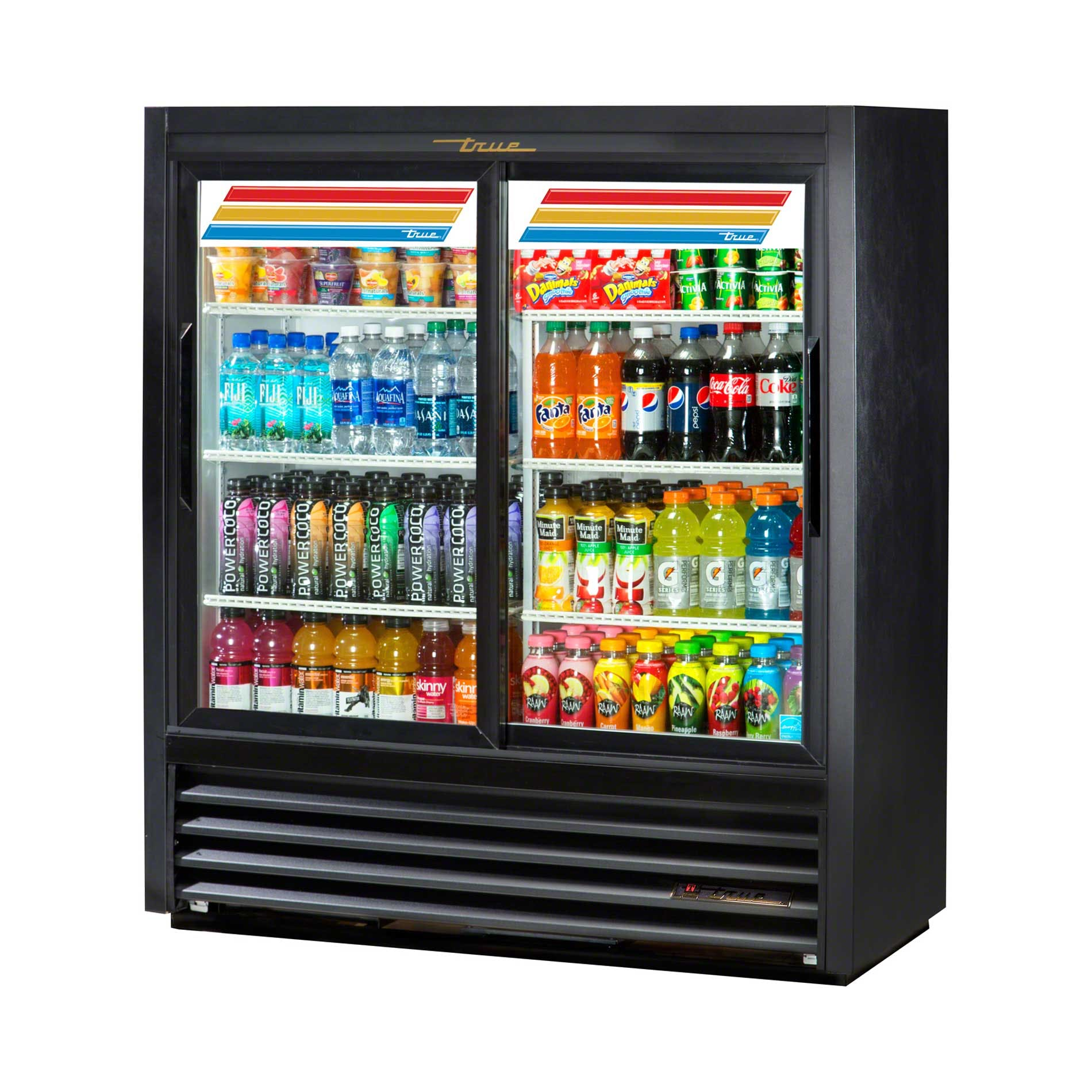 "True - GDM-41SL-54-LD 47"" Convenience Store Glass Door Merchandiser Refrigerator LED Commercial refrigerator sold by Food Service Warehouse"