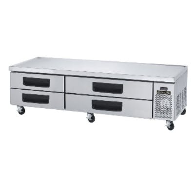 BlueAir Refrigerated Equipment Stand / Chef Base with 4 drawers (17.2 cu ft) Equipment stand sold by pizzaovens.com