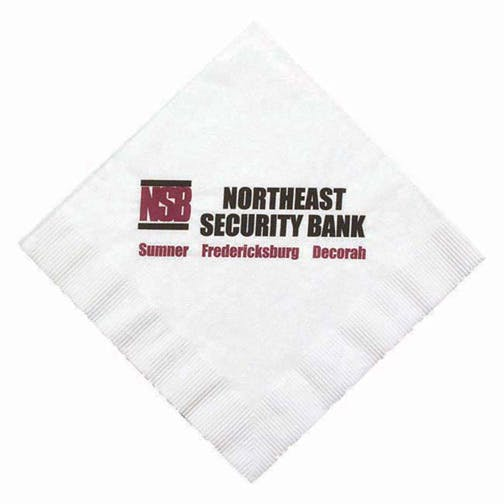 Napkins, 1-Ply White NapkinsHL130LN, White Luncheon, Coin Edge Embossing Napkin sold by Distrimatics, USA