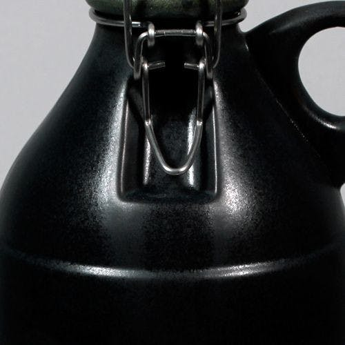 The Grigri - Matte Black 64oz Growler sold by Portland Growler Company