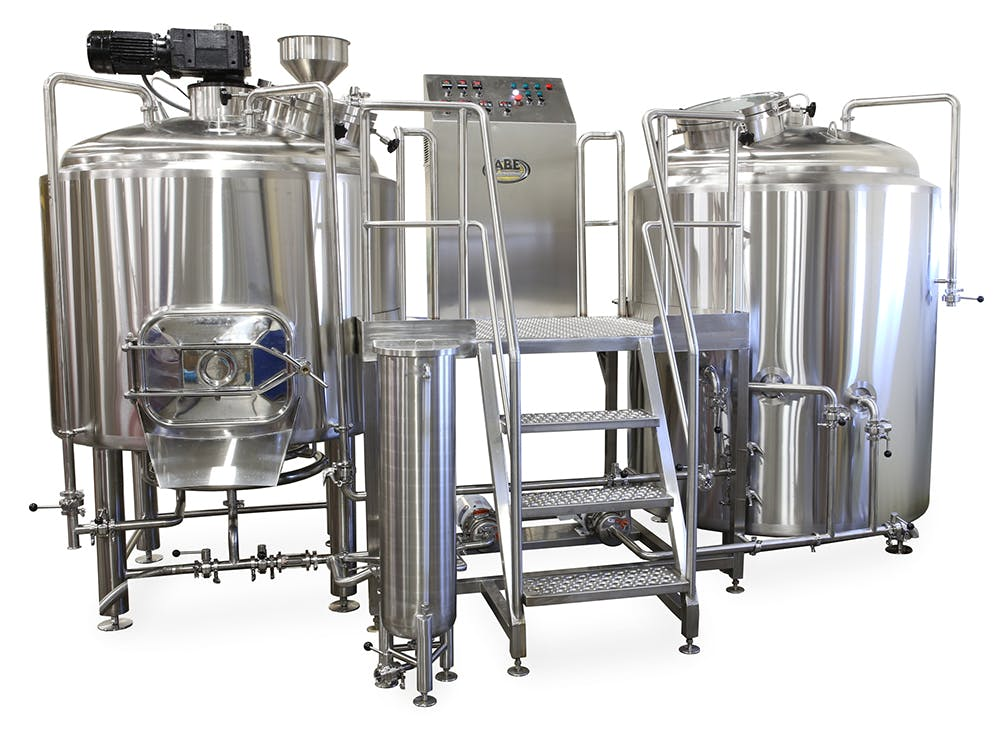 10 BBL 2 Vessel Semi-Auto Direct Fire  Brewhouse sold by American Beer Equipment