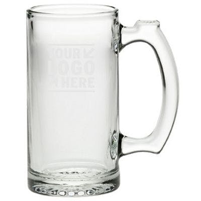 Beer Mug 12.5 oz, Clear Glass Beer glass sold by Worldwide Ticket and Label