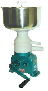 Hand Operated Mini-Cream Separator Cream separator sold by Simple Milking Equipment
