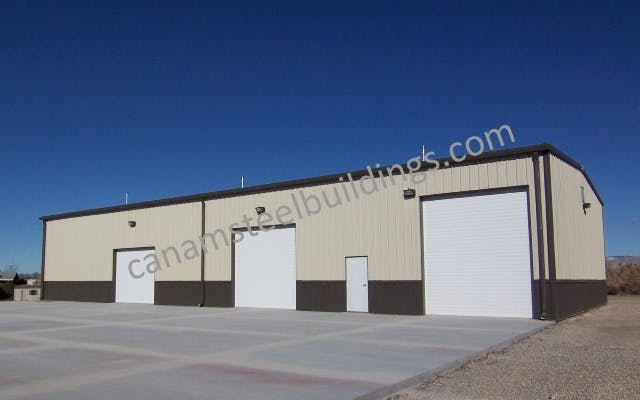 Maintenance Shop - Steel Building Systems - sold by CanAm Steel Building Corporation