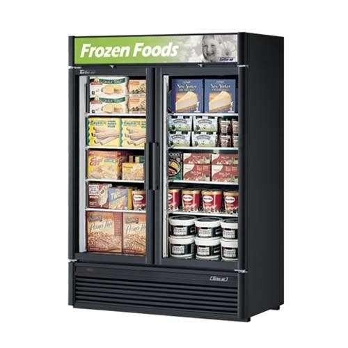 Turbo Air TGF-47SD Super Deluxe Glass Door Merchandiser Freezer, Two Section, 46.2 Cu Ft Commercial freezer sold by Mission Restaurant Supply