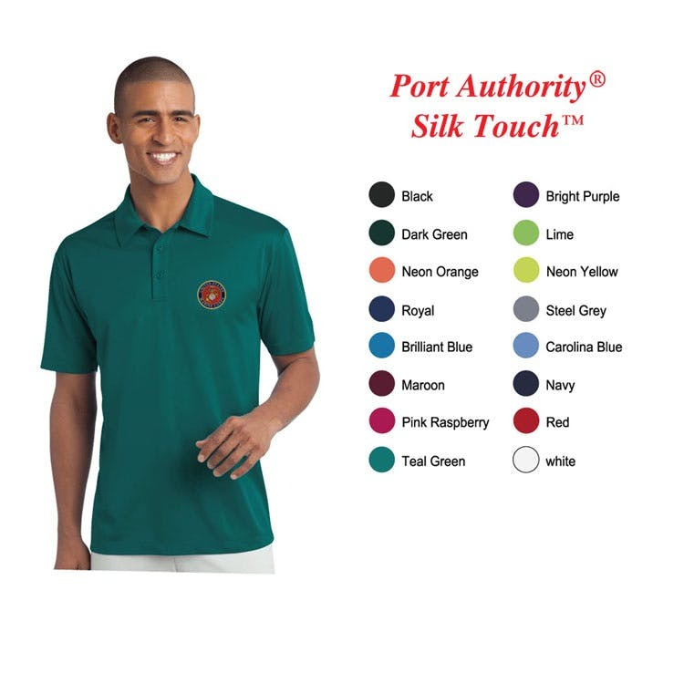 Port Authority Men Silk Touch Performance Polo Promotional shirt sold by Custom H2Oh!