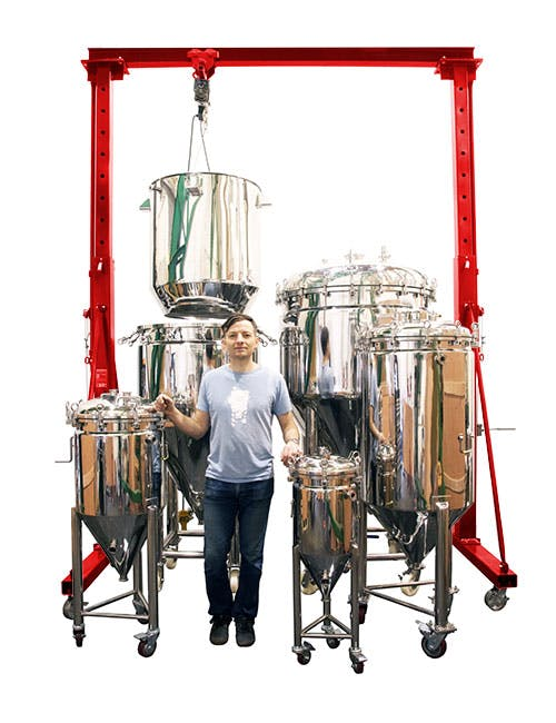 Brewing with the 5BBL BIAC Fermenter sold by BREWHA Equipment Co