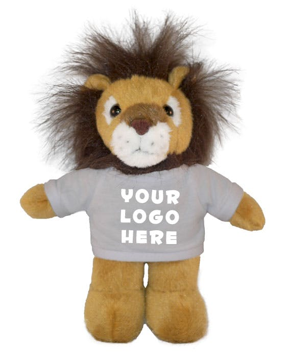 Lion with T-Shirt (Item # WBHNO-KAMRT) Stuffed toy sold by InkEasy